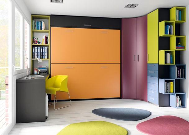 Decoracion dormitorios juveniles peque os habitaciones - Dormitorios juveniles espacios pequenos ...