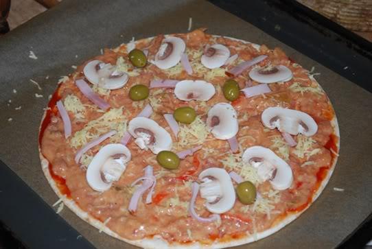 Pica paruošta kepimui