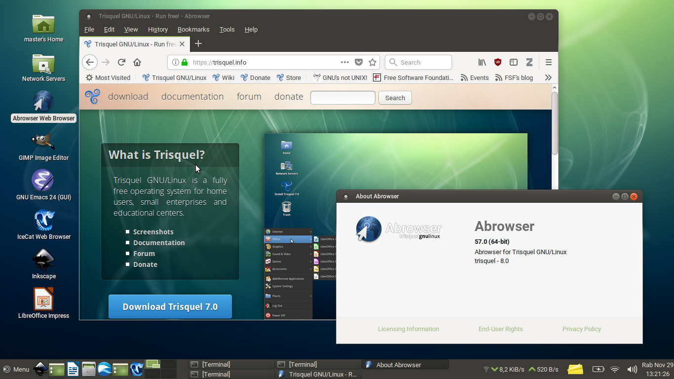 Upgrade Abrowser to v57, the Firefox Quantum for Trisquel 8 GNU/Linux