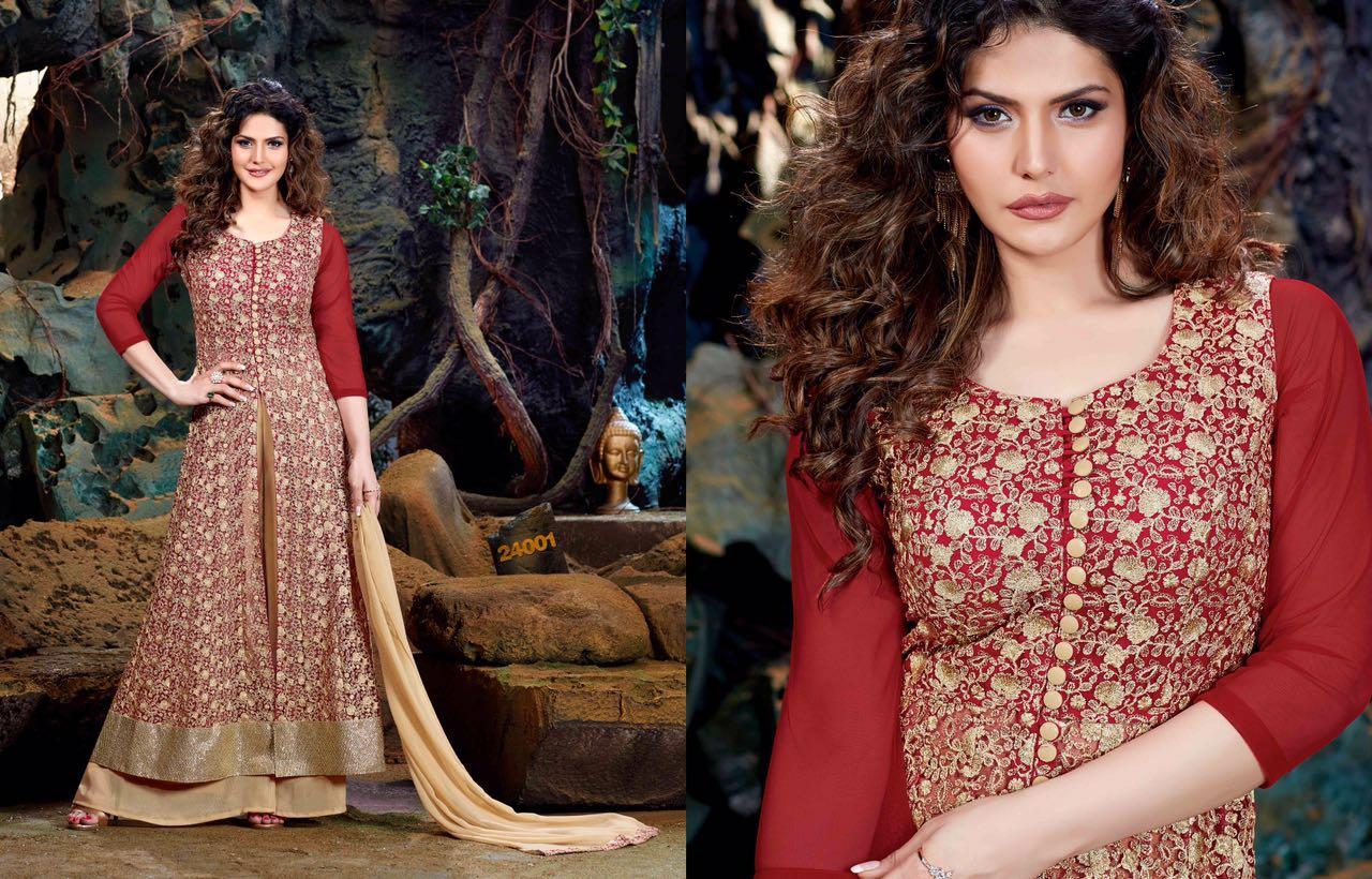 ROLES 3-Latest new  Fancy Semi Stitched Faux Georgette Salwar Suit