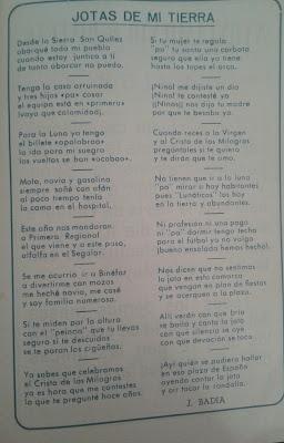 Jotas a la Tierra de J.Badia en Programa Fiestas Binéfar 1960