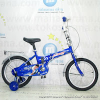 16 Inch Evergreen EG116 Magnificent Folding Bike Blue