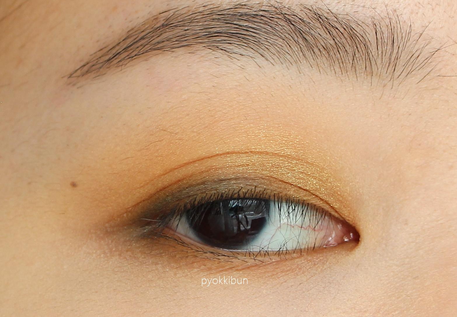 Simple Yellow Eye Makeup Pyokkibun