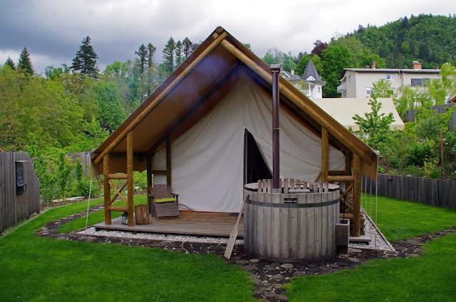 Glamping Tent Garden Village Bled