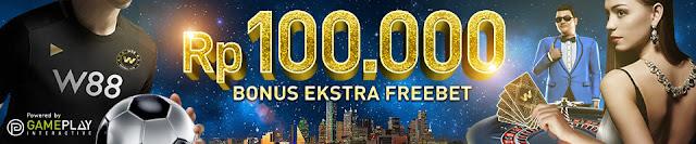 Daftar W88 Dapatkan Bonus Ekstra Freebet