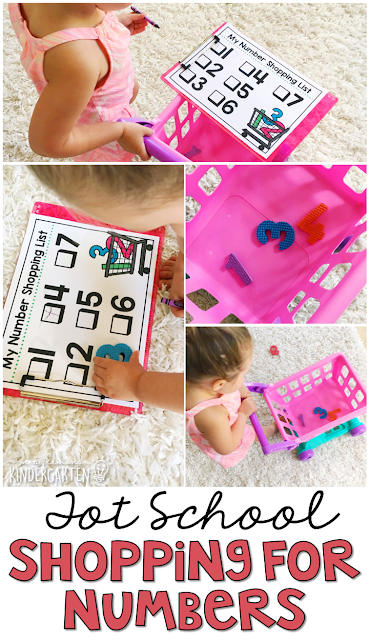Learning is more fun when it involves movement! Learn numbers with this Chicka Chicka 123 Shopping for Number Activity. Great for tot school, preschool, or even kindergarten!