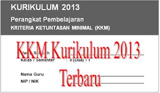 Download File Guru : Bentuk Baru KKM Kurikulum 2013 Jenjang SD/MI Kelas 1, 2, 3, 4 Dan 5 Tahun 2016