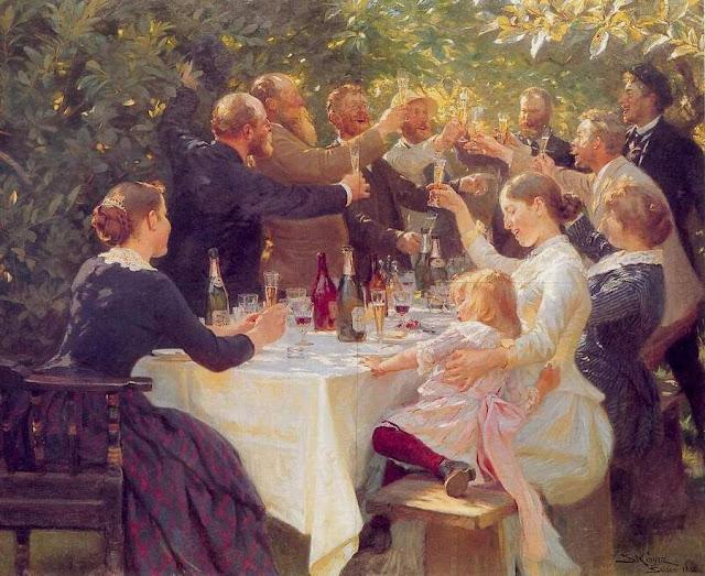 P.S. Krøyer - ¡Hip, hip, hurra! - 1888