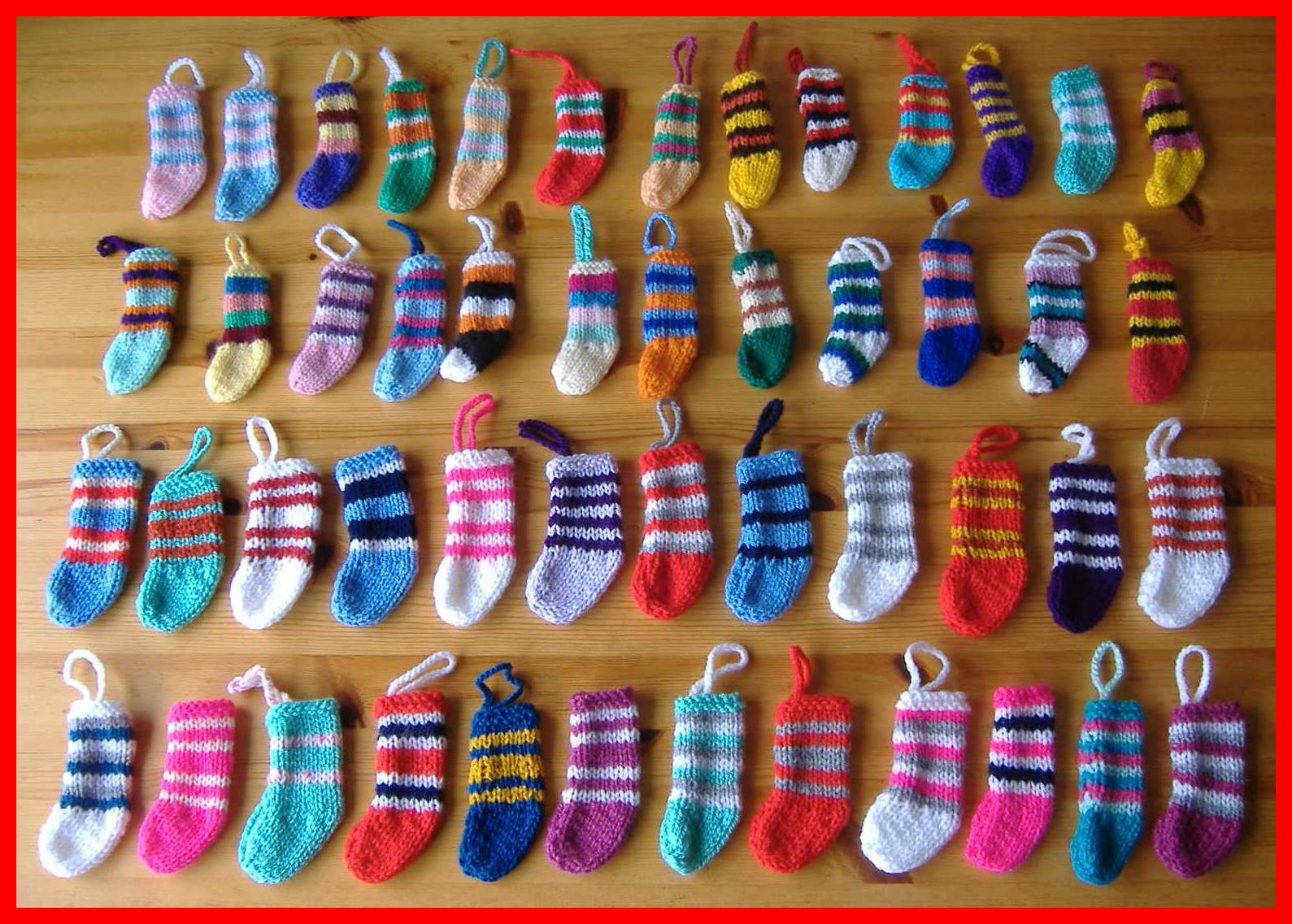 mini christmas stocking decorations for school craft fair