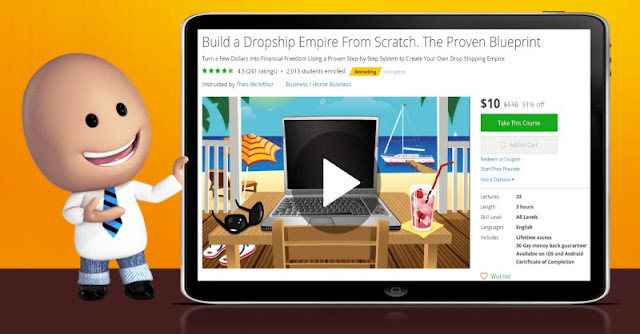 [91% Off] Build a Dropship Empire From Scratch. The Proven Blueprint| Worth 110$
