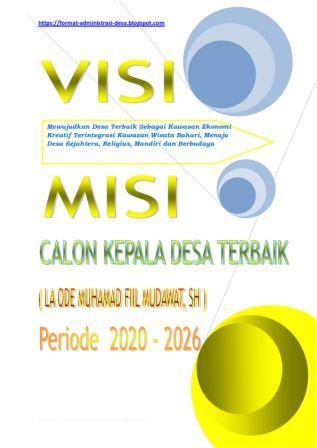 Contoh Makalah Visi Misi Kepala Desa