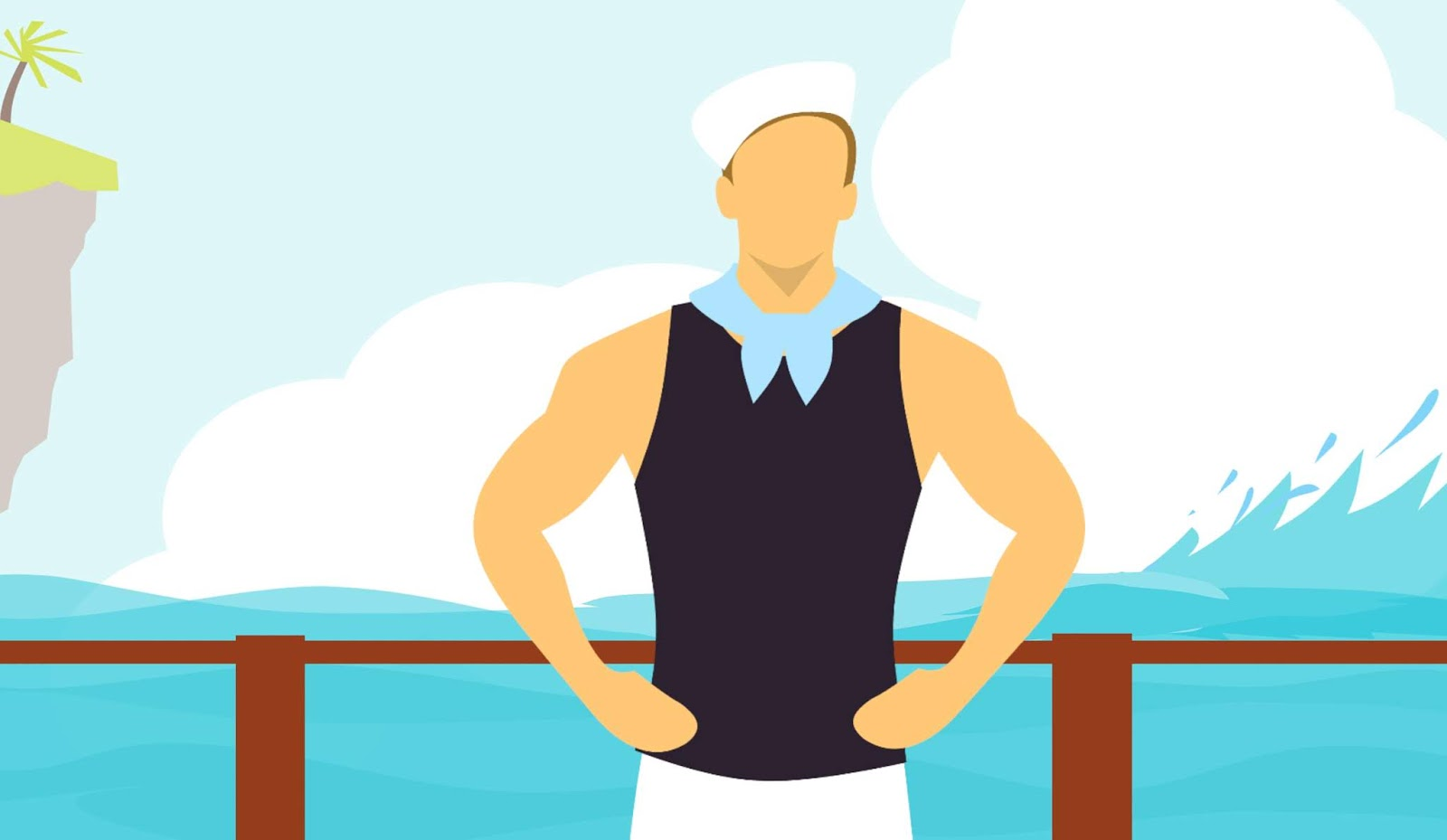 sailor, uniform, work, strong, man, return, white, worker, boat, sea, ocean, water, blue, sky, nature, travel, vacation