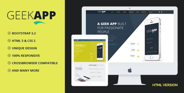 Download GeekApp Creative App Landing Page Responsive