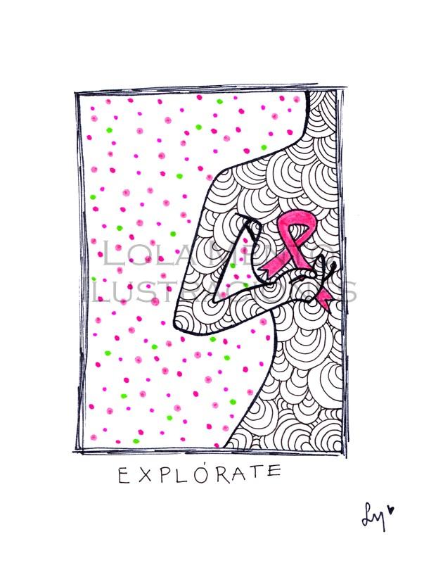 ilustraciones lola mento, ilustraciones lolamento, LolaMento, Lola Mento, Lola Mento ilustraciones, LolaMento ilustraciones, cancer de mamá ilustraciones