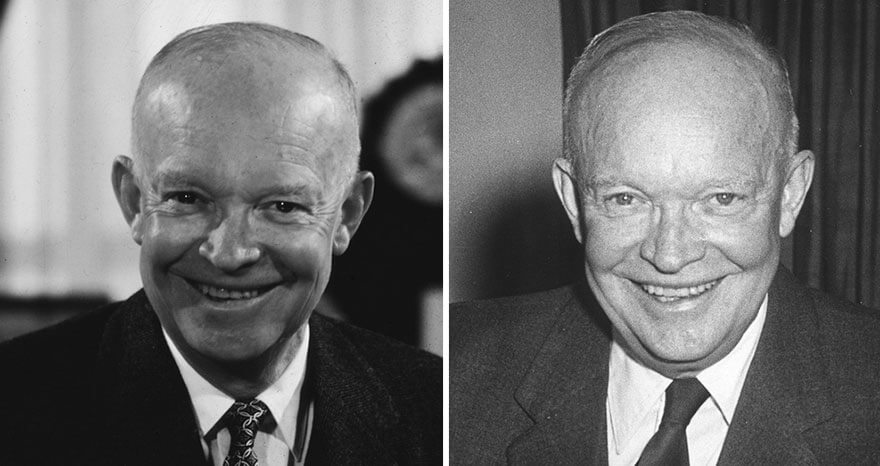 15 Before And After Photos Of US Presidents Depict How Their Job Transformed Them - Dwight D. Eisenhower (1953-1961)