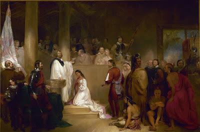 El bautismo de Pocahontas
