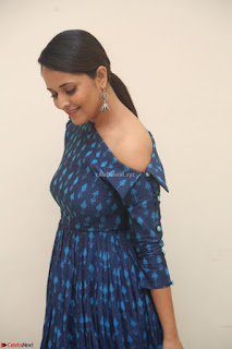 Anchor Anasuya in a Blue Gown at Jai Lava Kusa Trailer Launch ~  Exclusive Celebrities Galleries 030.JPG