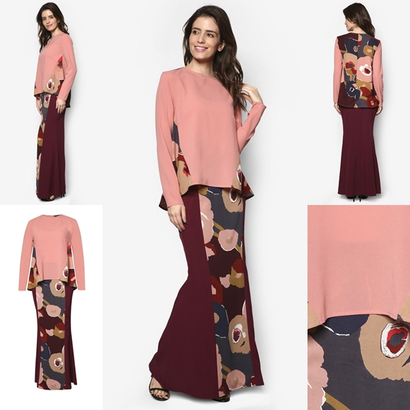 Fesyen Baju Kurung Moden Terkini 2016 2017 Design By Zolace - Two Become Fun Pink