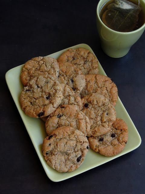 Spelt flour Cookies, Chocolate chips spelt flour cookies