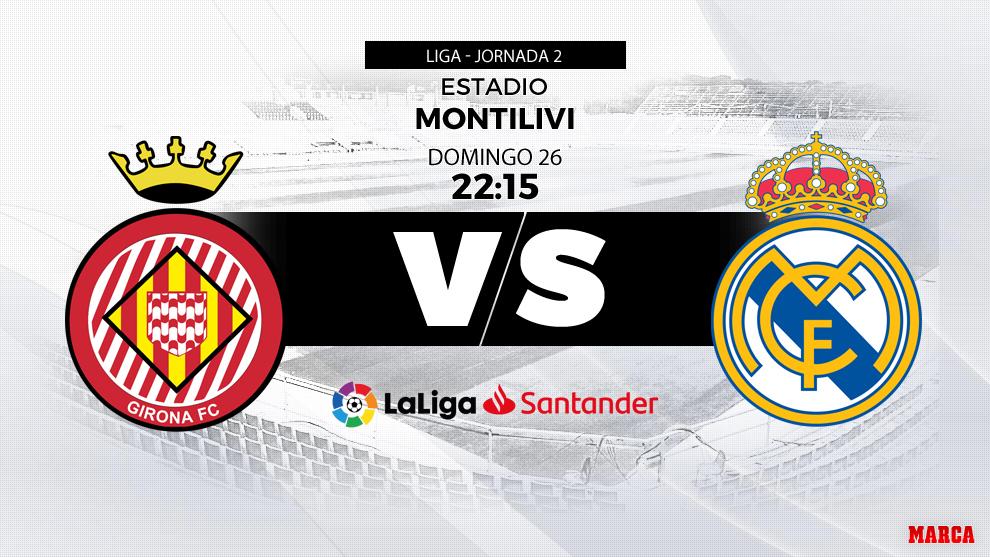 Horario y dónde ver: Girona vs. Real Madrid