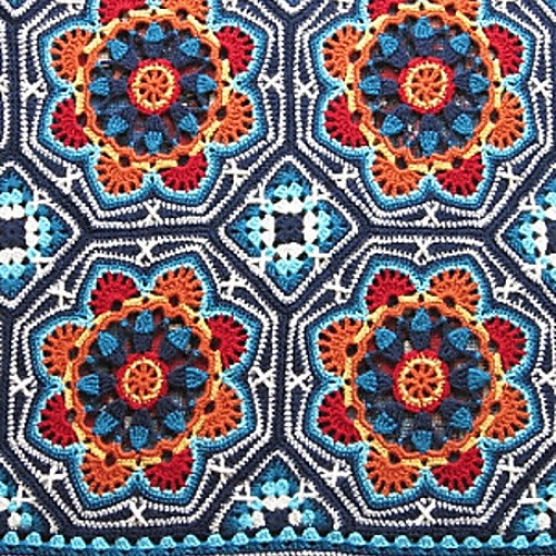 Persian Tile Blanket - Crochet Pattern