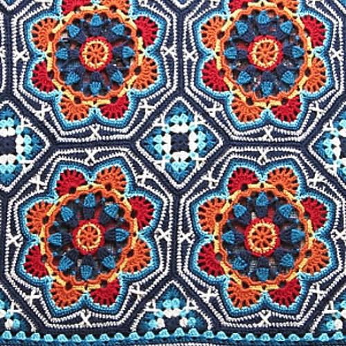 Persian Tile Blanket - Crochet Pattern