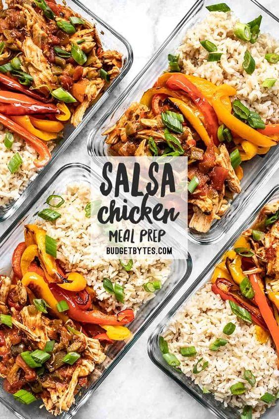 Salsa Chicken Meal Prep Bowls