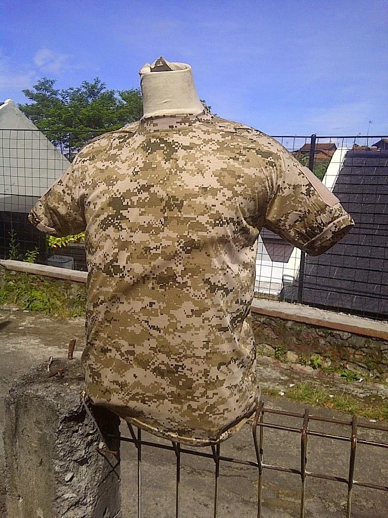 Kaos Oblong Army Look + velcro perekat  b4f95fe706