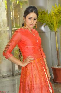 Simrat in Orange Anarkali Dress 22.JPG