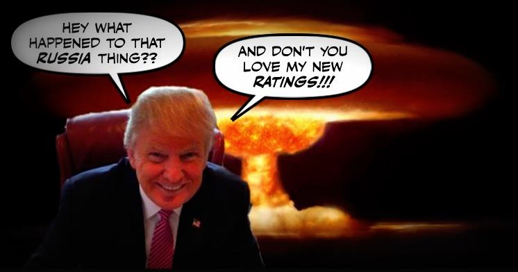 Image result for trump nuclear war distraction from russia