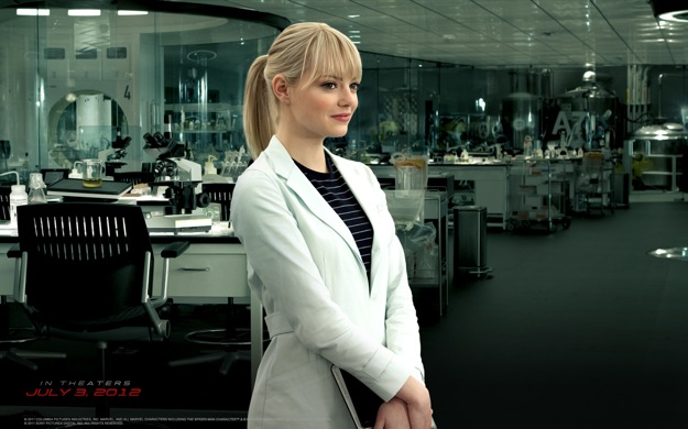 Emma Stone es Gwen Stacy en The Amazing Spider-man