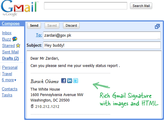 Create HTML Signatures Right Inside Gmail ~ Way2Trick