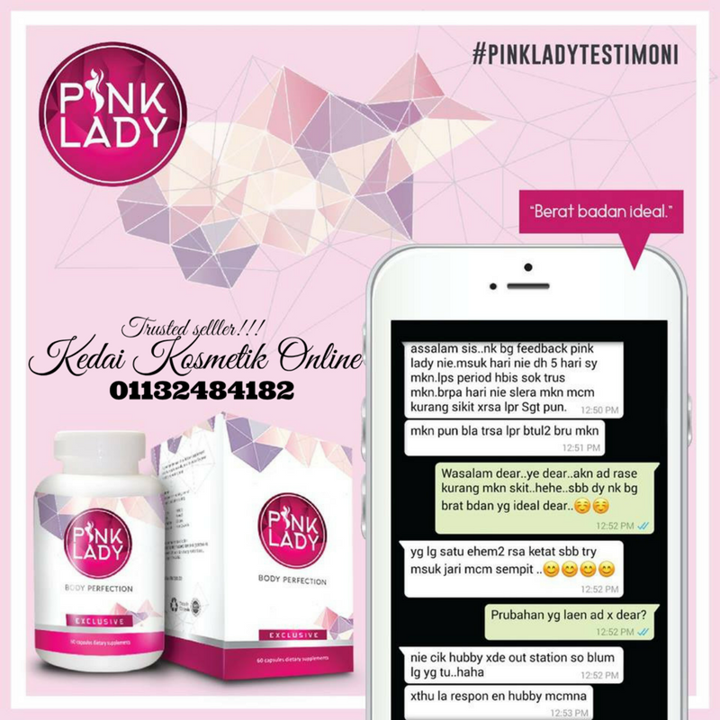 PINK LADY BODY PERFECTION SUPPLIMENT KHAS UNTUK WANITA