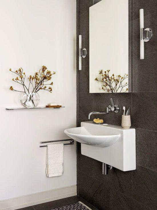 Decoracion De Baños Pequenos Modernos: fotografías inspiradoras de decoración de baños pequeños modernos