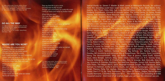 FROM THE FIRE - Thirty Days And Dirty Nights [YesterRock digitally remastered] booklet