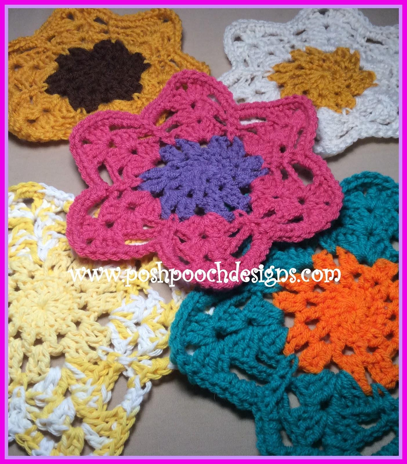7a28fb7fbb5 Posh Pooch Designs Dog Clothes  Summer Flower Doily Crochet Pattern ...
