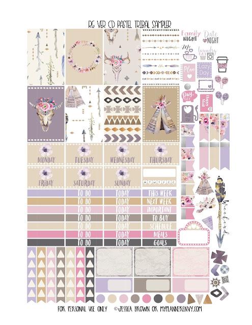 Free Printable RG VER CD Pastel Tribal Sampler from myplannerenvy.com