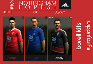 PES 2013 Nottingham forest Kits 2016-17 by BORELL