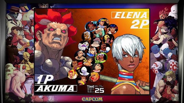 Street Fighter 30th Anniversary Collection - Street Fighter III - 3rd Strike - Character Select screen