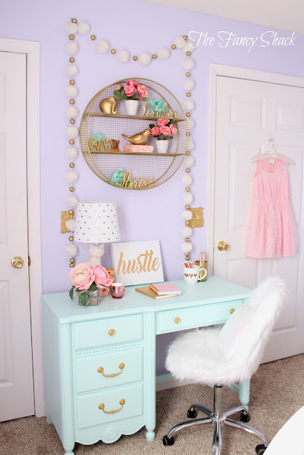 Target White Desk Chair Retro Dining Room Chairs The Fancy Shack: Pastel Girls Makeover