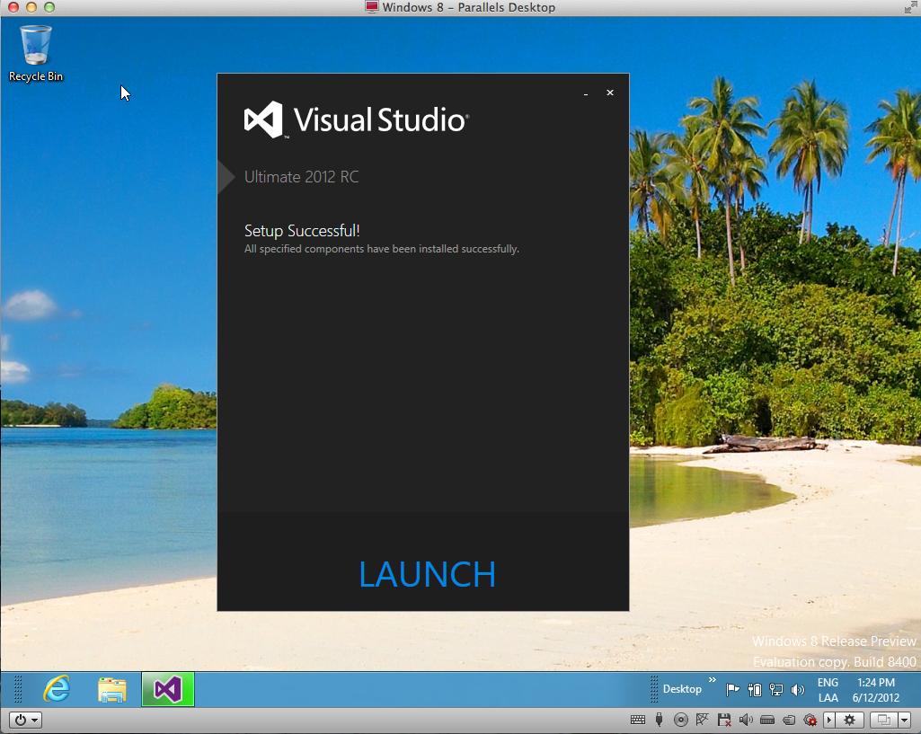 Instalar Visual Studio 2012 en WIndows 8