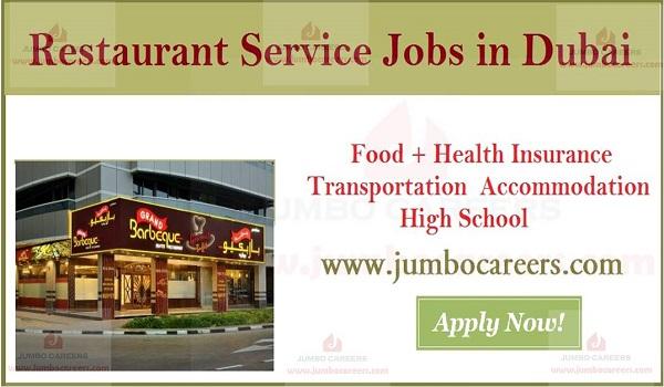 Latest Restaurant Service Staff Jobs in Dubai - Walk In Interview