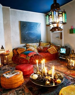 Bohemian Floor Pillows - Flooring Ideas and Inspiration