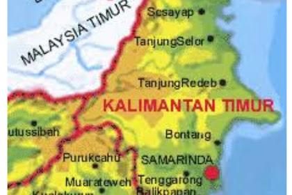 Inilah 4 Kabupaten Terbesar dan Terpadat di Provinsi Kalimantan Timur Indonesia