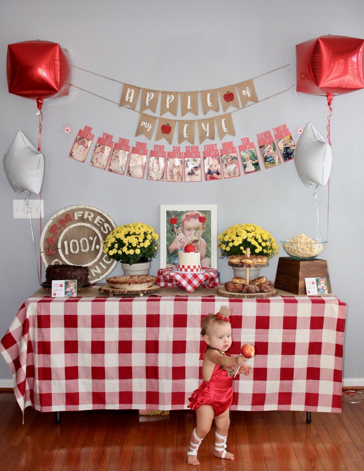 The Luna Vine Emilia Reh S Apple Of My Eye 1st Birthday Party