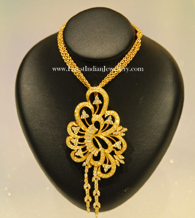 Floral Design Gold Pendants Collection Latest Indian