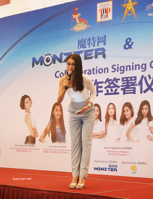 Amber Chia at the ceremony