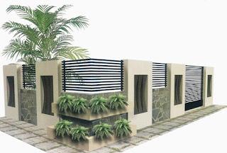 yaitu mengamankan rumah dari tindak kejahatan sekaligus melengkapi keindahan pemandangan  pagar rumah mininalis