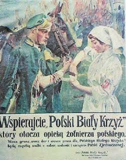 Wojciech Kossak - plakat Polskiego Białego Krzyża - 1919