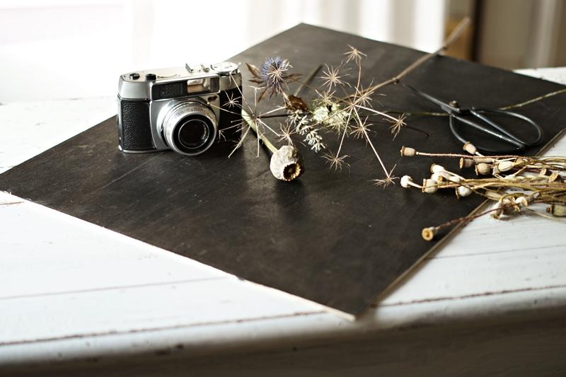 Blog + Fotografie by it's me! - Makro Montag - gesammelte Props, analoge Kamera, schwarzer Untergrund für Tutorial